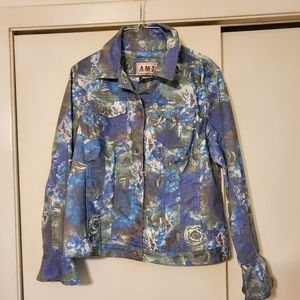 AMI Snap Front Button Jacket